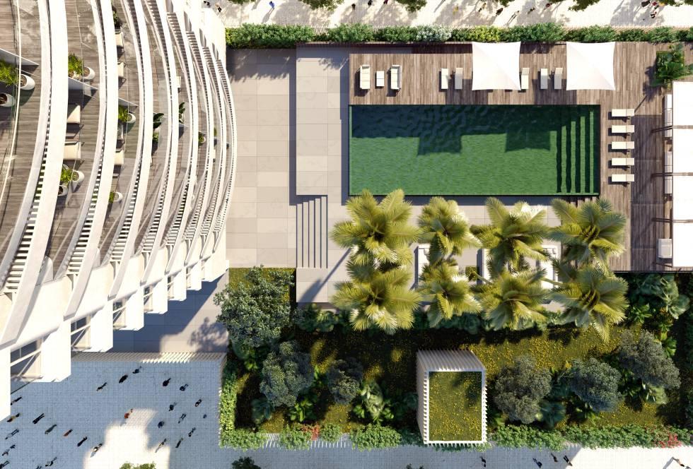 Proyecto del edificio Ikon, de Kronos Homes, en Valencia.