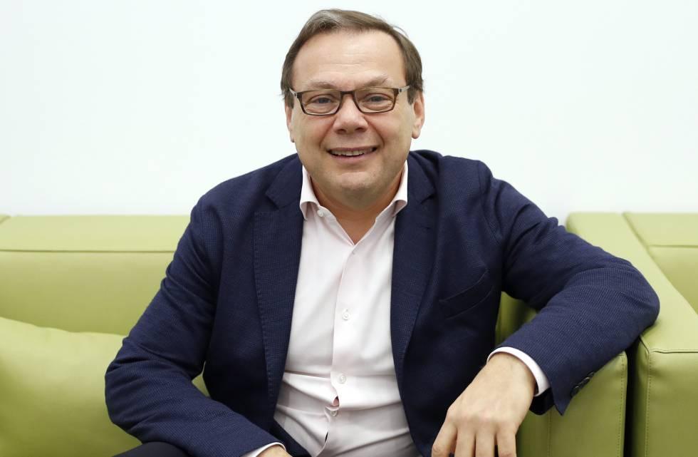 Mijaíl Fridman, al término de la entrevista.