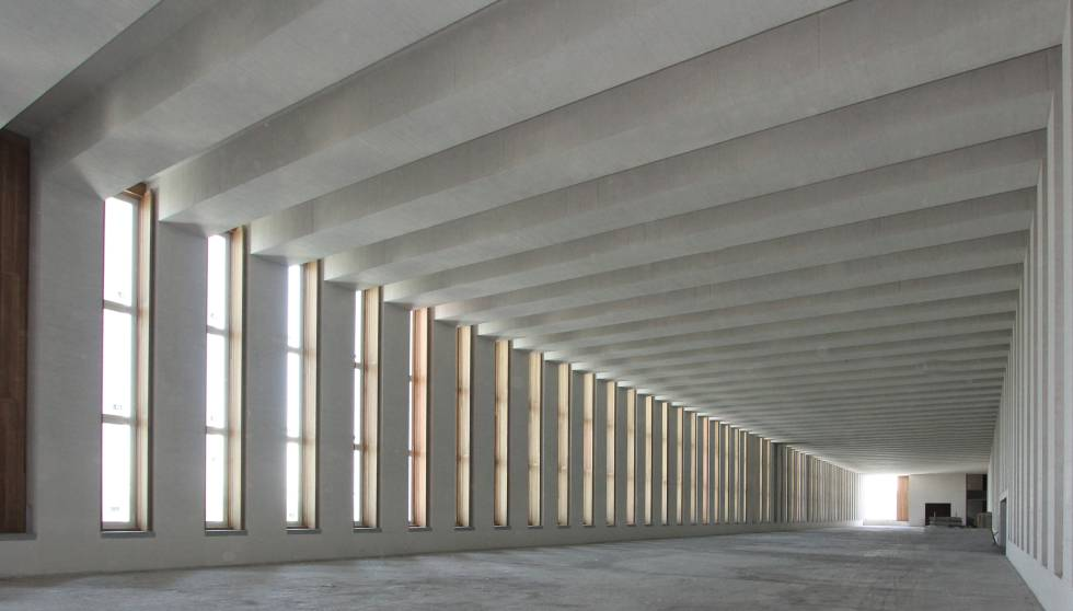 Sala interior del Museo de las Colecciones Reales de Madrid (aún sin concluir), construido por FCC.
