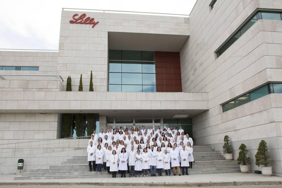 El grupo de investigadores de Lilly España.