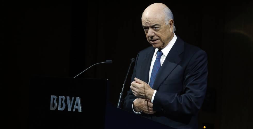 El expresidente de la entidad Francisco González.