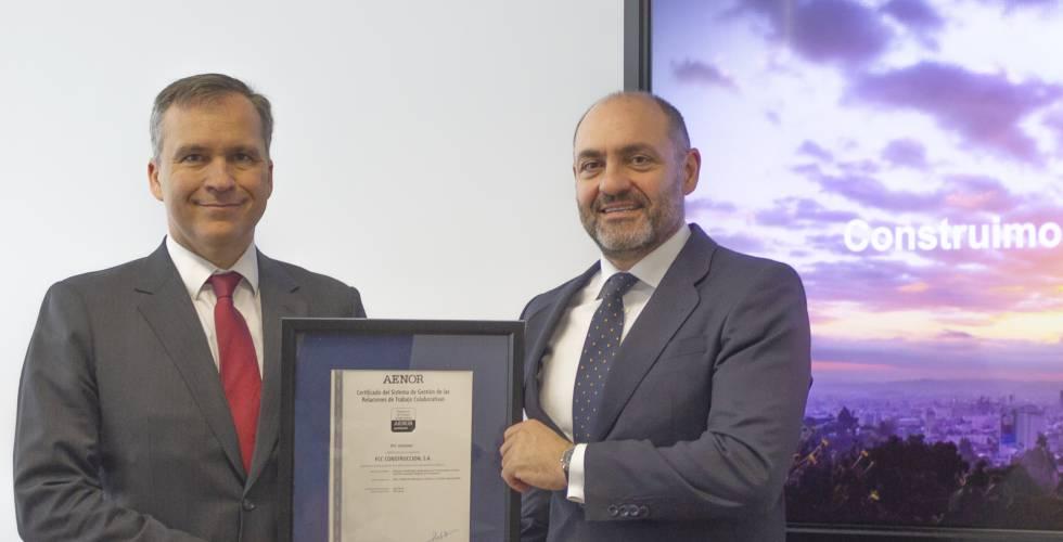 FCC obtiene la certificación sobre gestión de relaciones de trabajo colaborativas.