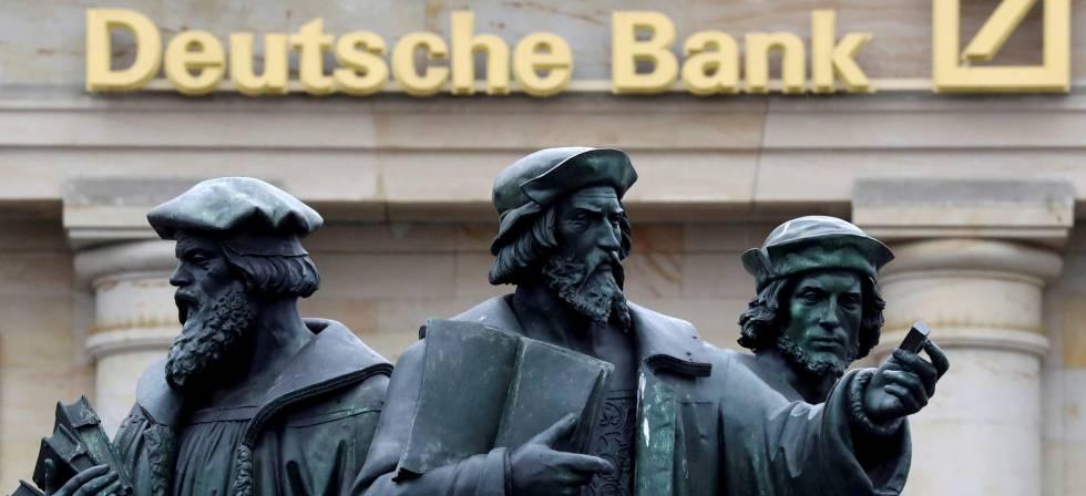 Fachada de una destacada oficina de Deutsche Bank