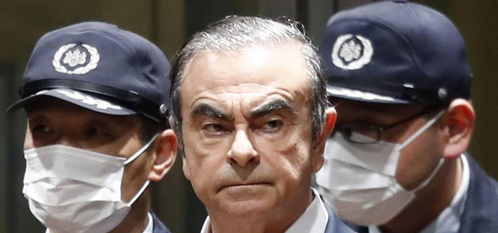 Imagen de archivo de Carlos Ghosn cuando estaba detenido.