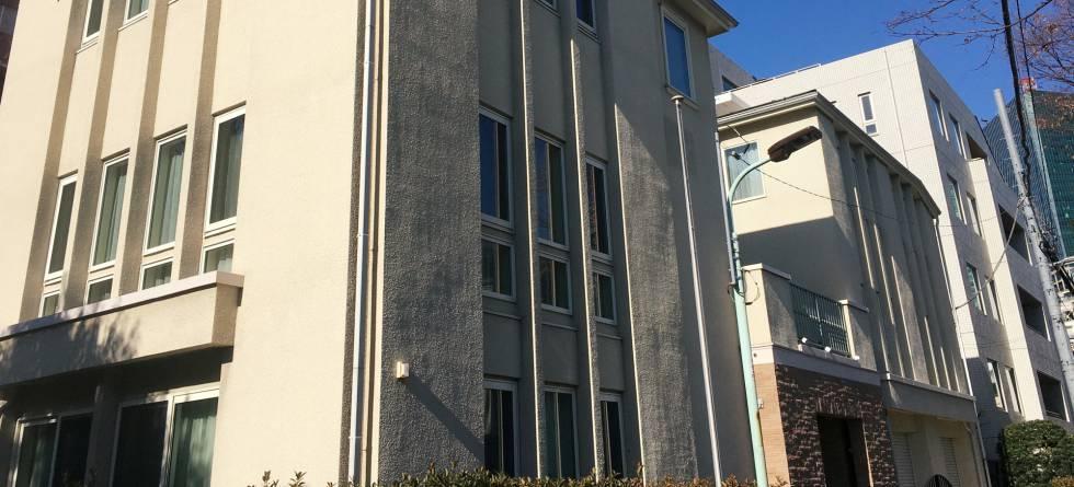 La casa donde se cree que Ghosn vivía en Tokio antes de su fuga.