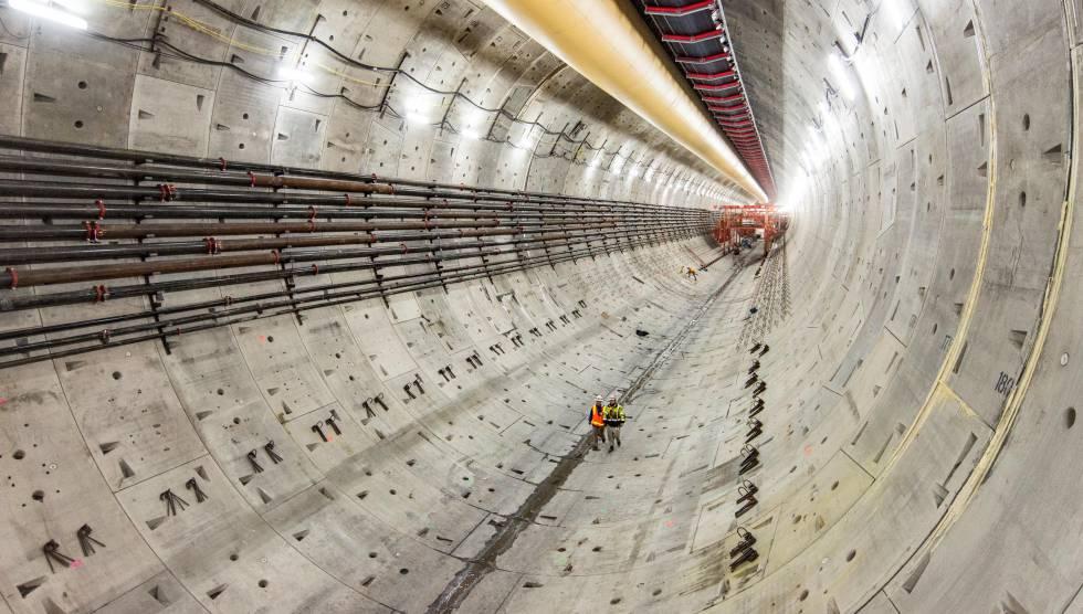 Túnel de la SR-99 bajo la ciudad de Seattle (EE UU).