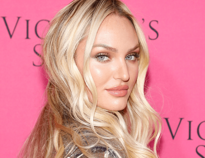 Candice Swanepoel Eating French Fries