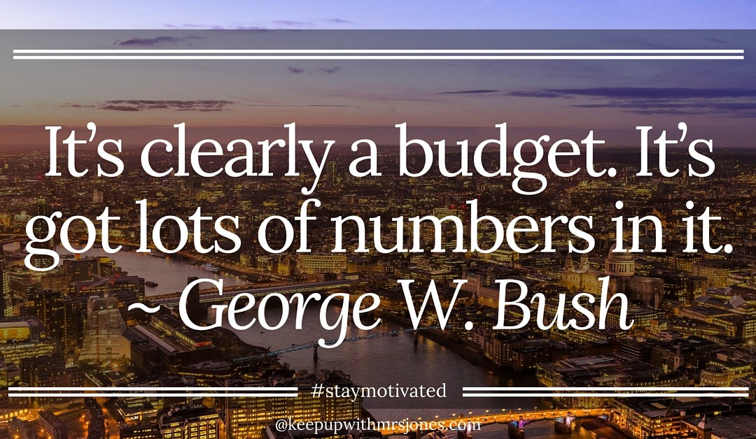 Sometimes you just cannot avoid your budget! #staymotivated