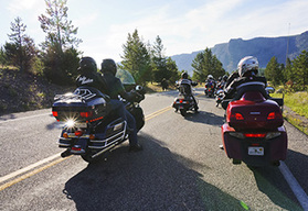 Canadian Rockies and Yellowstone Park Guided Motorcycle Tour, Steamboat Springs