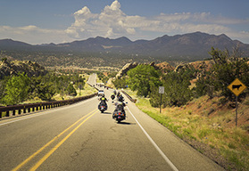 Route 66 to Los Angeles guided motorcycle tour Santa Fe