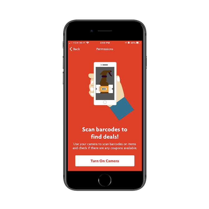 Les clients Family Dollar peuvent utiliser l'application mobile pour scanner les codes-barres des produits en magasin et voyez s'il y a des offres qui leur sont associées.