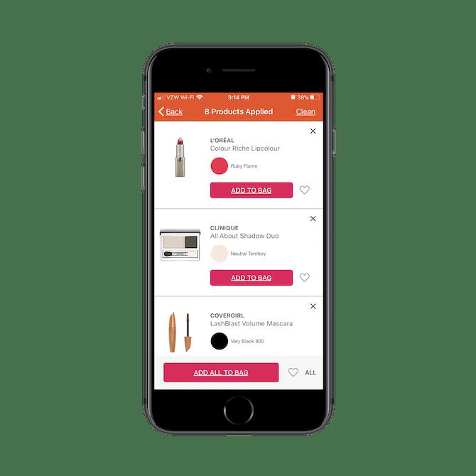 Ulta a non seulement créé un produit AR qui aide les acheteurs à trouver les bons produits, mais il simplifie la commande et passez à la caisse avec GLAMlab Live Try-On.