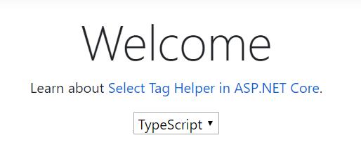 Cette fois, TypeScript apparaît dans la fenêtre comme langue sélectionnée par défaut