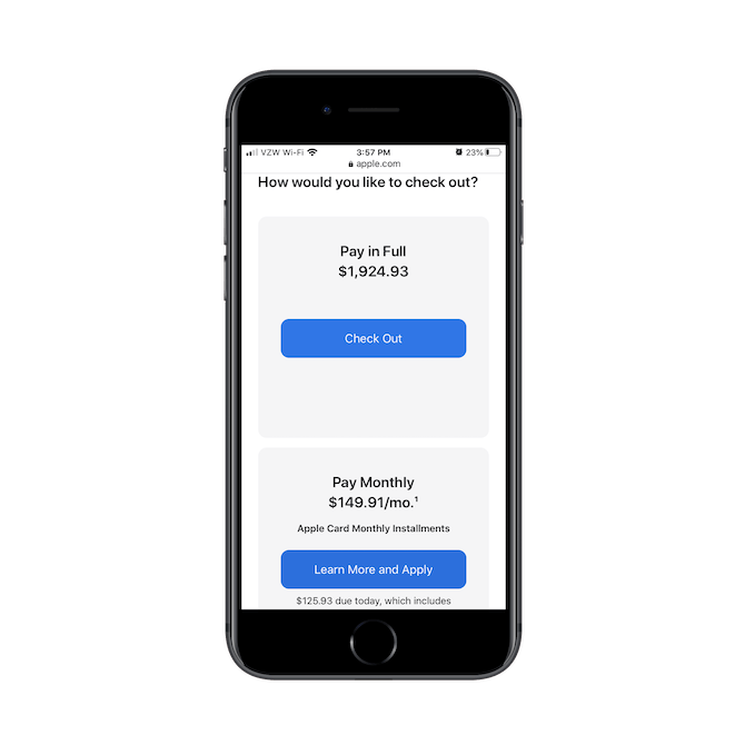 À la caisse, les utilisateurs Apple ont la possibilité de payer intégralement et