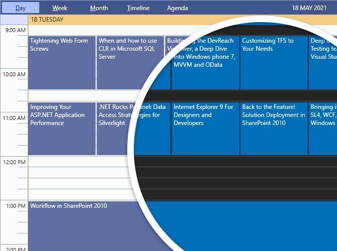 Visual Studio 2019 en mode clair est affiché avec une bulle révélant les différences de variation sombre. Le mode clair a un fond blanc avec des bleus, des violets et de l'orange. Le mode sombre a un fond gris foncé avec des accents bleus.