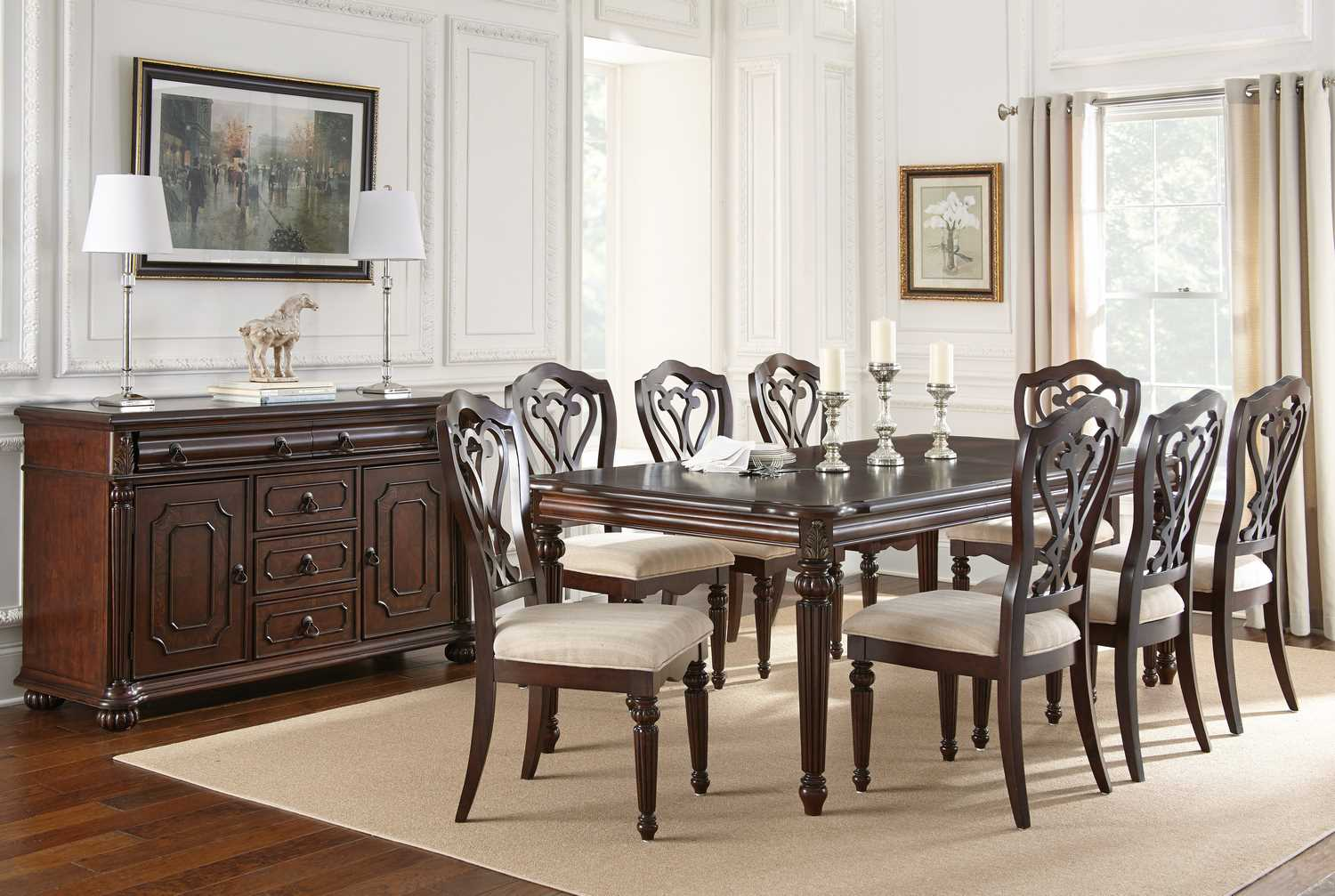 steve silver 10 piece 84 42 dining room set efurnituremart home