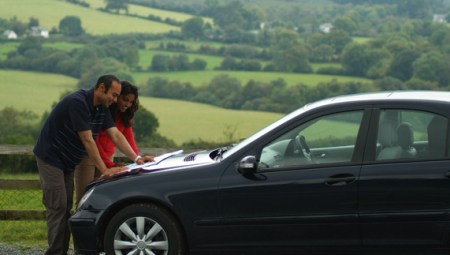 Vehicle Rental   Ireland com Driving through Lough Dan  County Wicklow