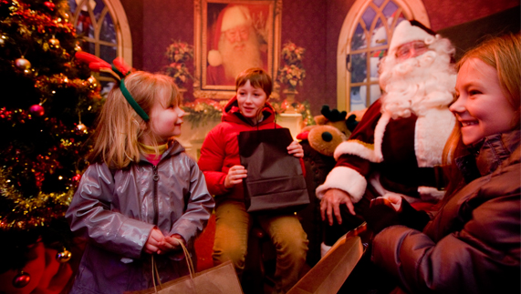 Santa surprises at Mount Stewart, County Down