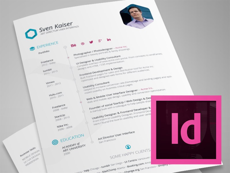 Best Free Resume Templates For Designers indesign resume template
