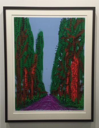 DAVID HOCKNEY Untitled No. 7 From the Yosemite Suite (2010) at Annely Juda Fine Art (London) at Art Basel