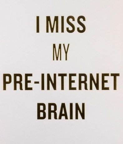 main work - Douglas Coupland, I Miss My Pre-Internet Brain