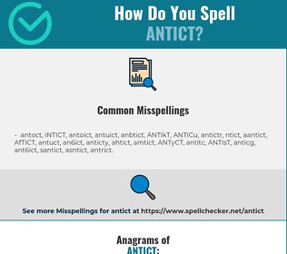 Correct Spelling For Antict Infographic Spellchecker Net