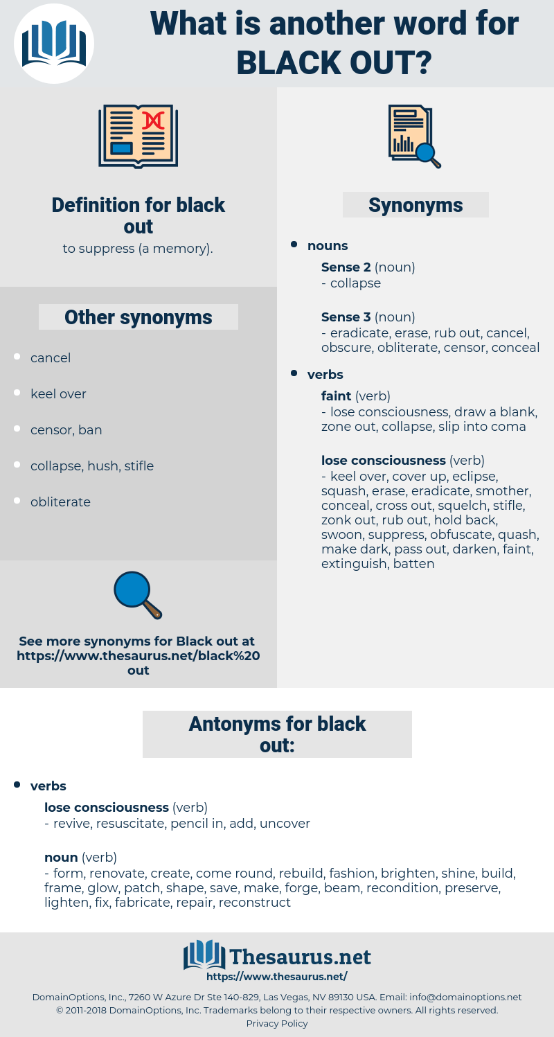 synonyms for black out thesaurus net