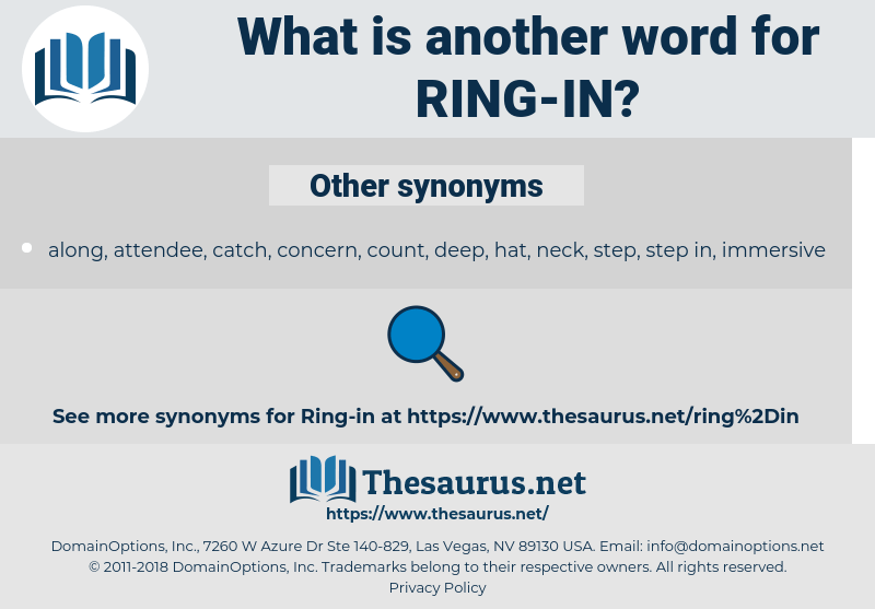 Synonyms For Ring In Thesaurus Net