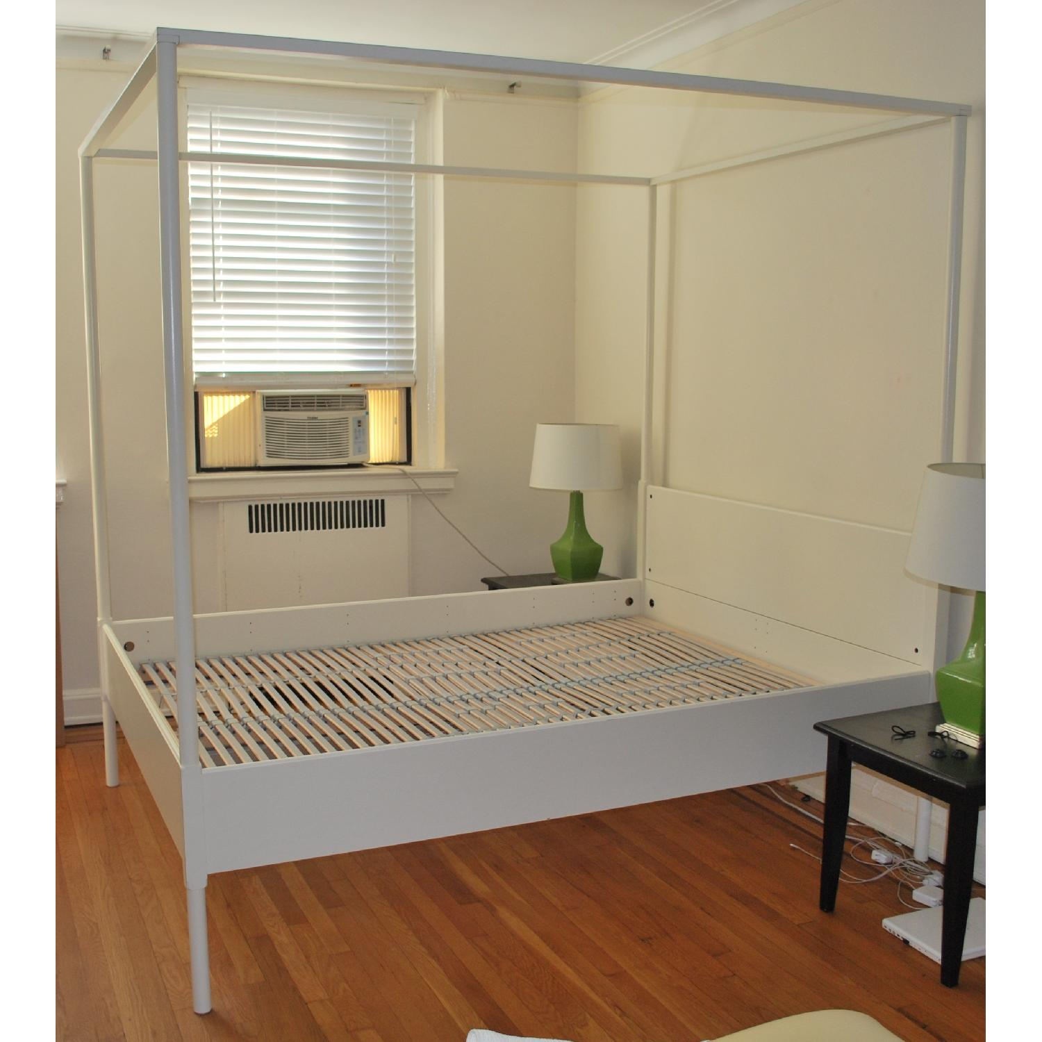 ikea edland four poster queen bed