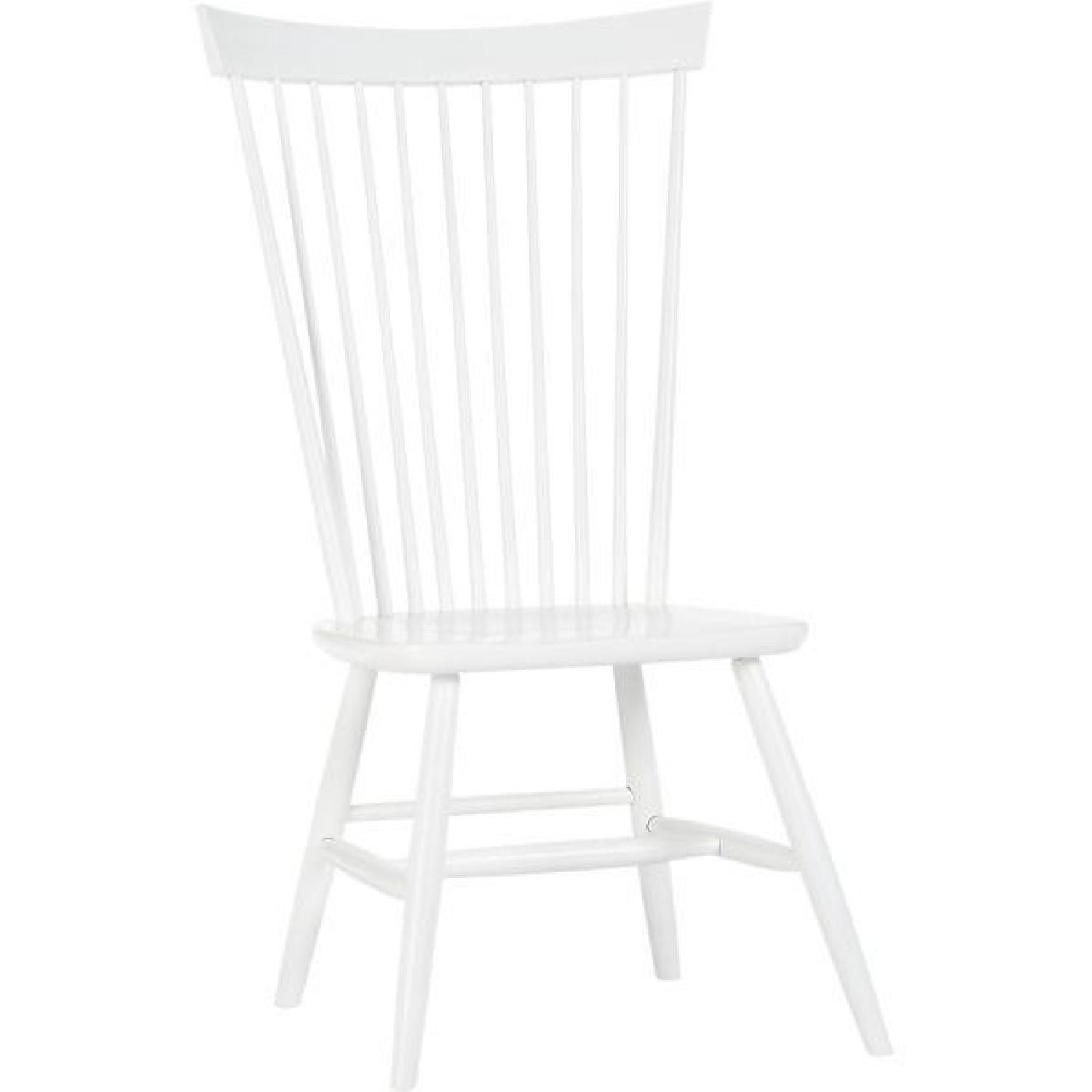 Crate Amp Barrel Marlow Ii Dining Chair In White