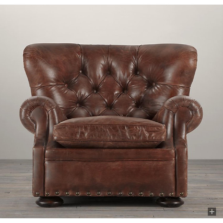 restoration hardware churchill leather recliner