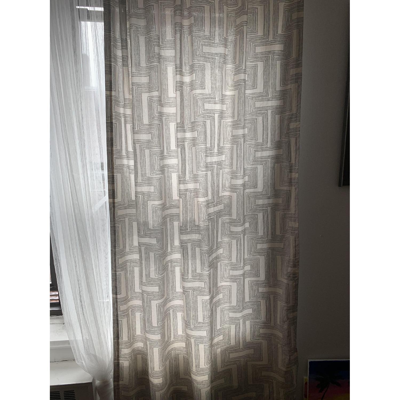 West Elm Cotton Canvas Geo Lattice Curtains Aptdeco