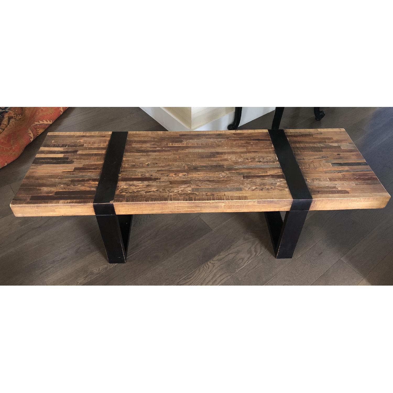 crate barrel seguro coffee table