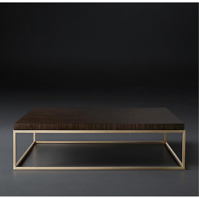 restoration hardware nicholas paldao square coffee table