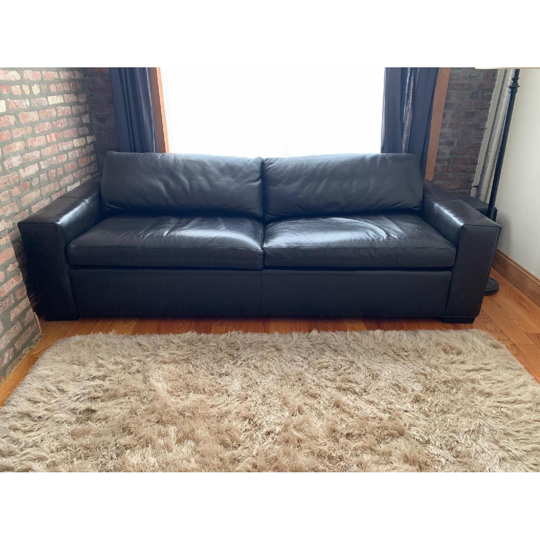 Room Board Dark Brown Leather Queen Sleeper Sofa