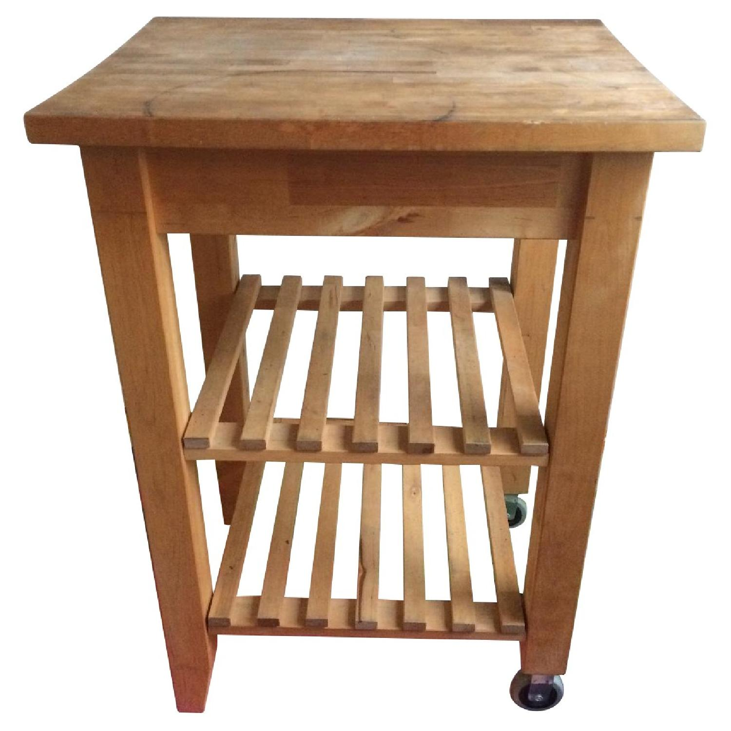 Ikea Bekwam Solid Wood Kitchen Cart Island Aptdeco