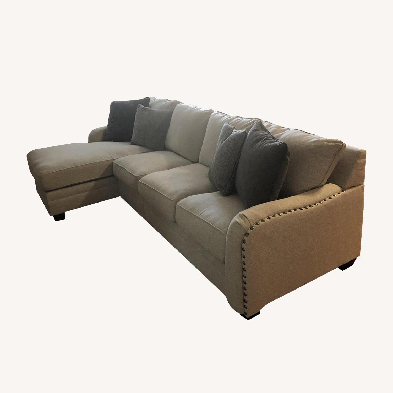 ashley dellara chalk modular sectional sofa