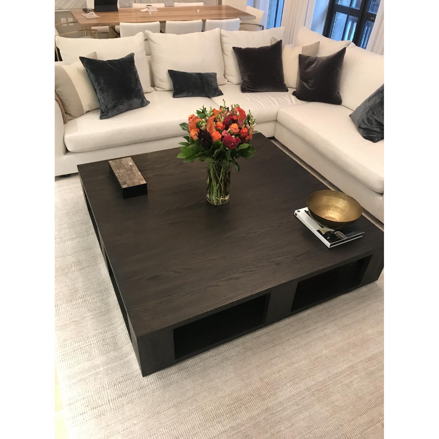 restoration hardware modern hayes large square coffee table