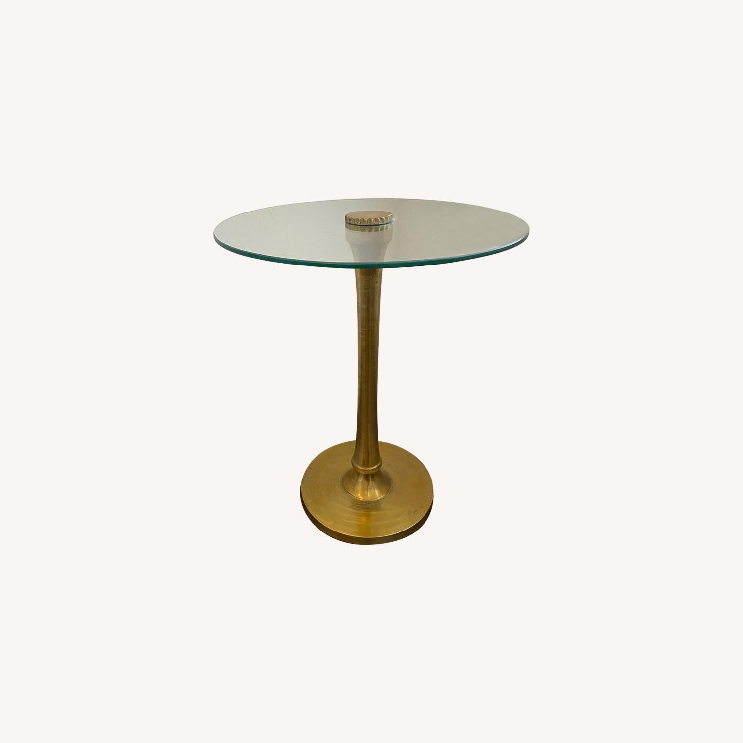 west elm glass side table
