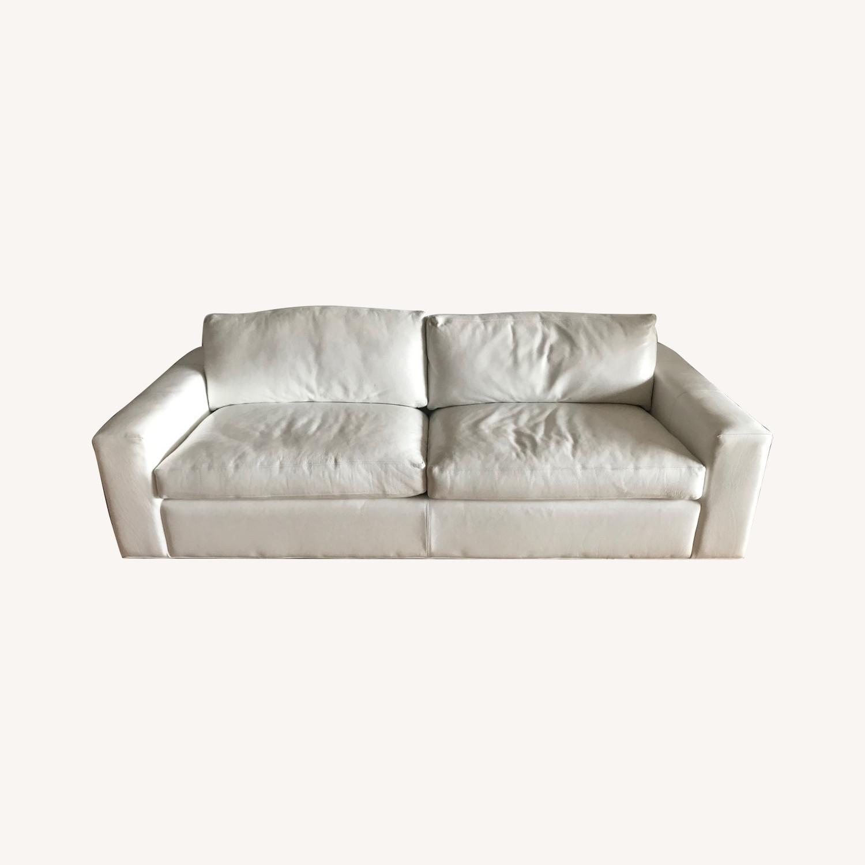 Room Board White Leather Queen Sleeper Aptdeco