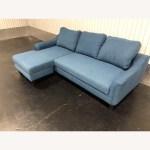 Ashley Furniture Jarreau Blue Sofa Chaise Sleeper Aptdeco
