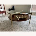 West Elm Mid Century Art Display Round Coffee Table Aptdeco