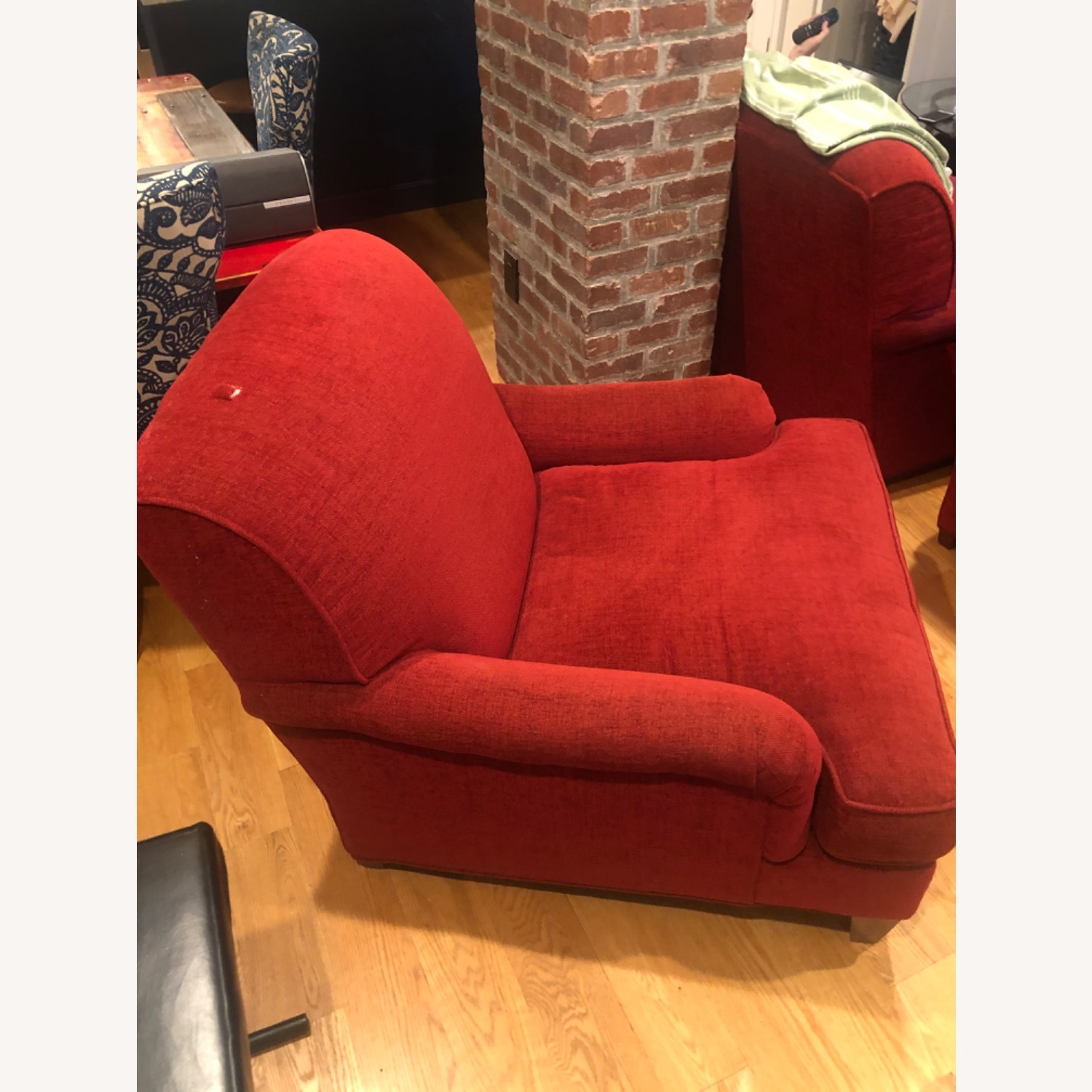 Crate Barrel Red Arm Chair Aptdeco