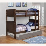 Twin Over Twin Bunk Bed In Country Brown Finish Aptdeco