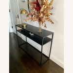 Target Black Metal Console Table Aptdeco
