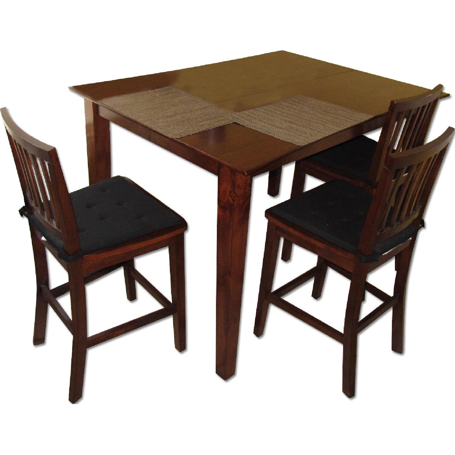 Bob S Furniture Bar Height Extendable Dining Room Table W 6 Chairs Aptdeco