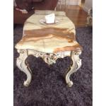 Vintage French Provincial Couch 2 Chairs Marble Coffee Table Aptdeco