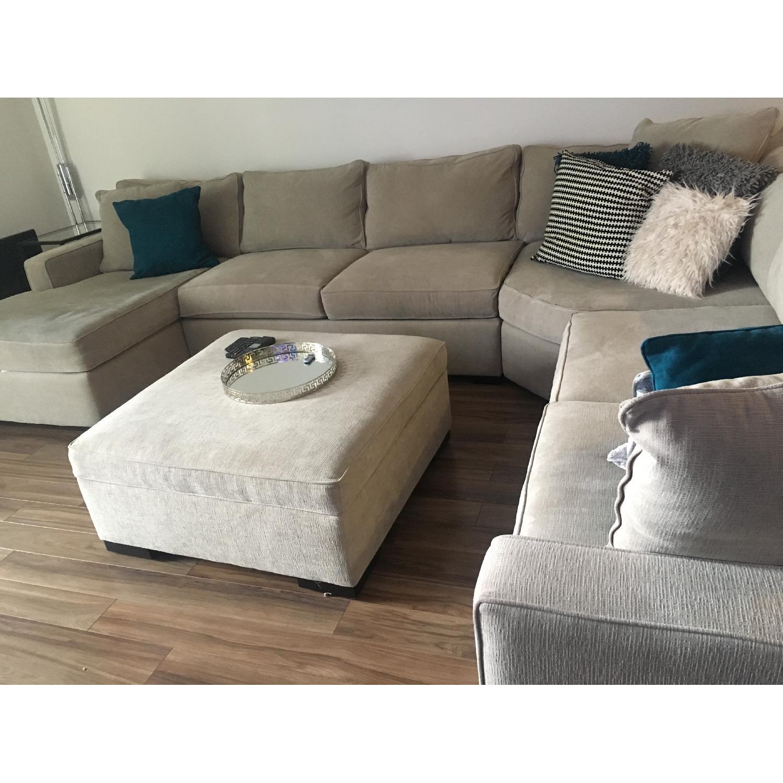 macy s radley 5 piece fabric chaise sectional sofa ottoman