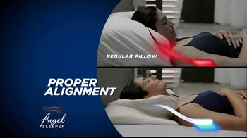 angel sleeper by copper fit tv commercial spine and neck alignment