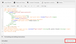 Views tutorials – Open layout CSS